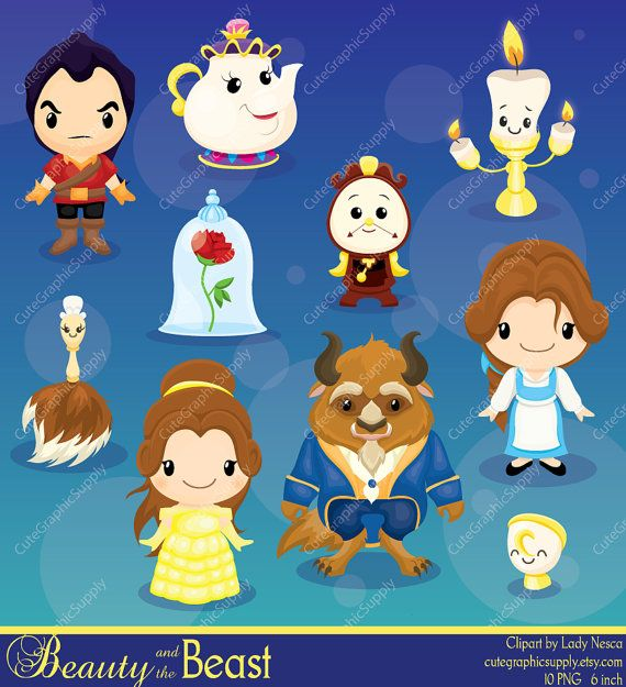 Beauty and the beast. Belle clipart queen