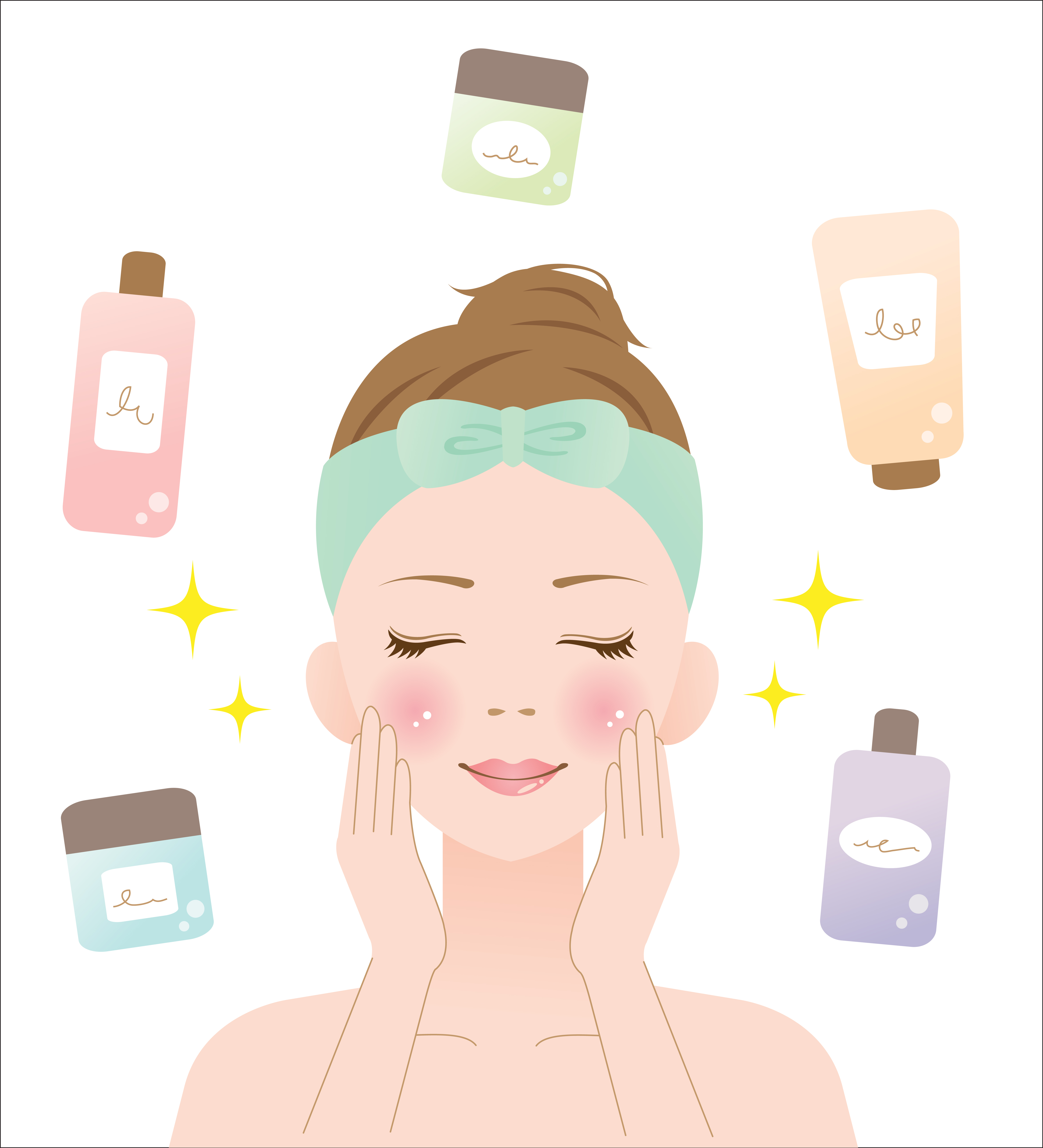 Skin products over the. Beauty clipart beauty care