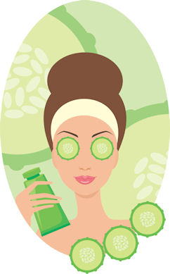 Why your skin products. Beauty clipart beauty care