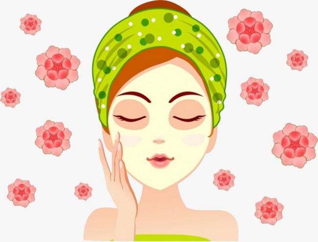 Skin mask flower png. Beauty clipart beauty care