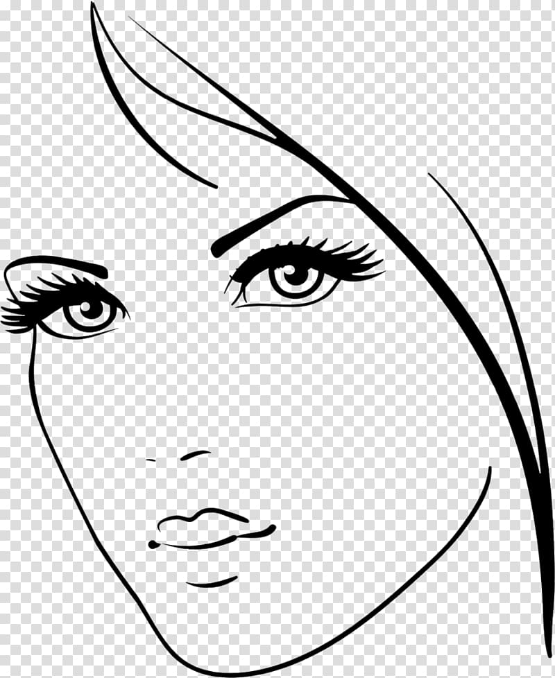 Beauty clipart beauty face. Drawing transparent background png
