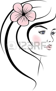 Beauty clipart beauty face. Picture of a beautiful