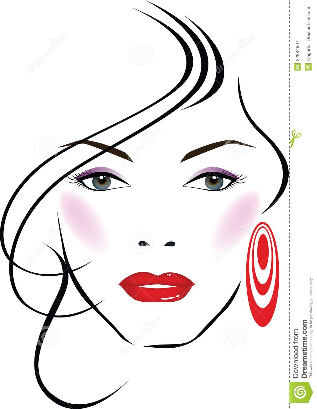 Beautiful girl royalty free. Beauty clipart beauty face