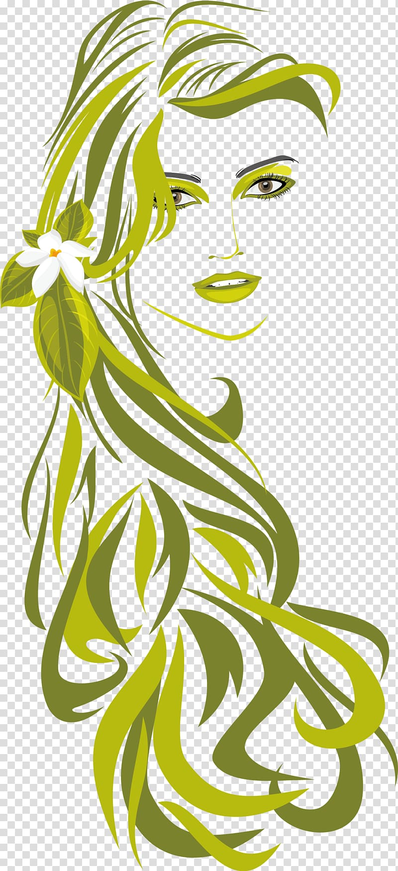 Beauty clipart beauty parlour. Hairstyle illustration girl