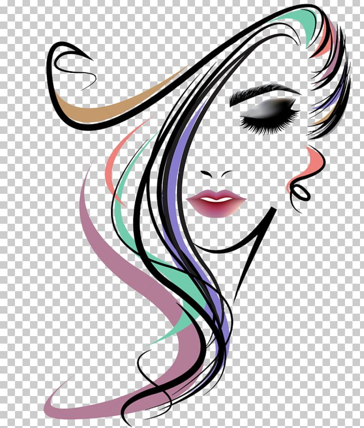 Beauty clipart beauty parlour. Hairstyle woman png artwork