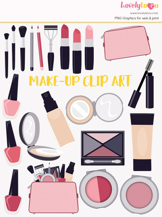Bag beauty products lipstick. Cosmetology clipart makeup item
