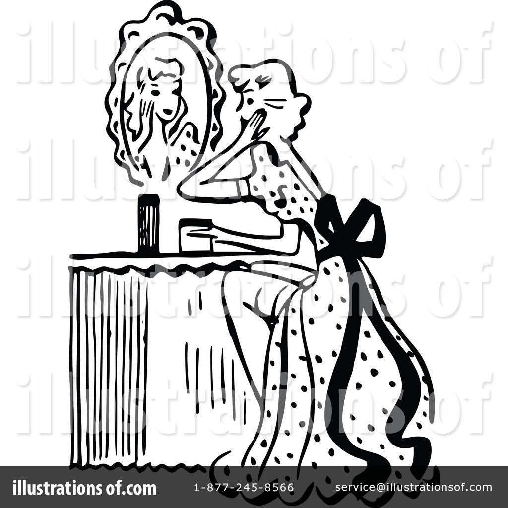 Beauty clipart beauty service. Illustration by prawny vintage