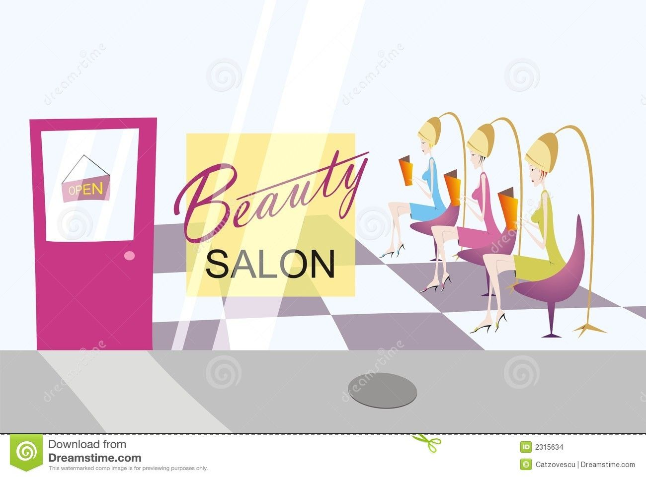 Beauty clipart beauty shop. Salon with three ladies