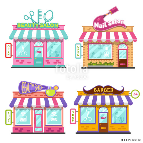Set of different nice. Beauty clipart beauty shop