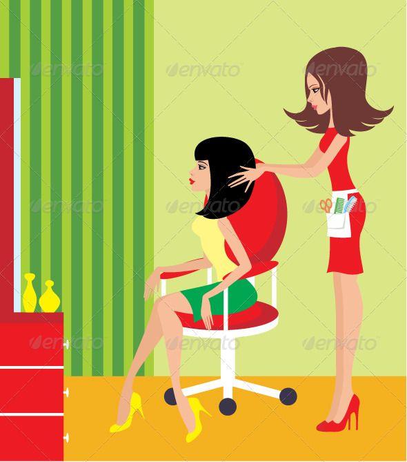 Beauty clipart beauty shop. Woman in a salon