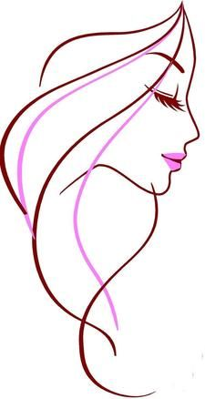 Woman girl pink abstract. Beauty clipart beauty shop