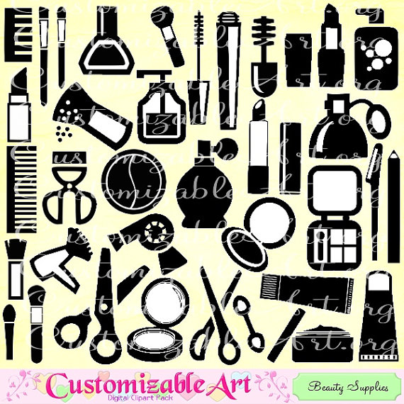 Supplies costmetics makeup clip. Beauty clipart beauty supply
