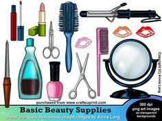 Beauty clipart beauty supply. Makeup eyeshadow lipstick hairbrushes
