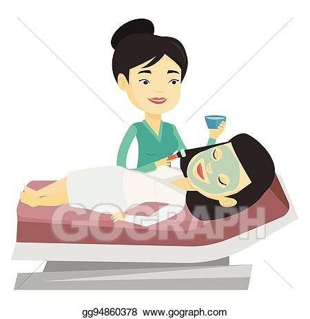 Vector stock girl in. Beauty clipart beauty therapist
