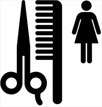 Free beauty salon graphics. Hairdresser clipart item