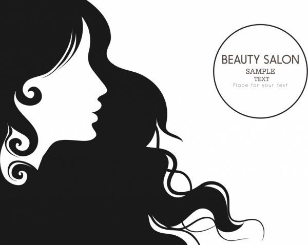 Beauty clipart black and white. Salon advertisment design woman