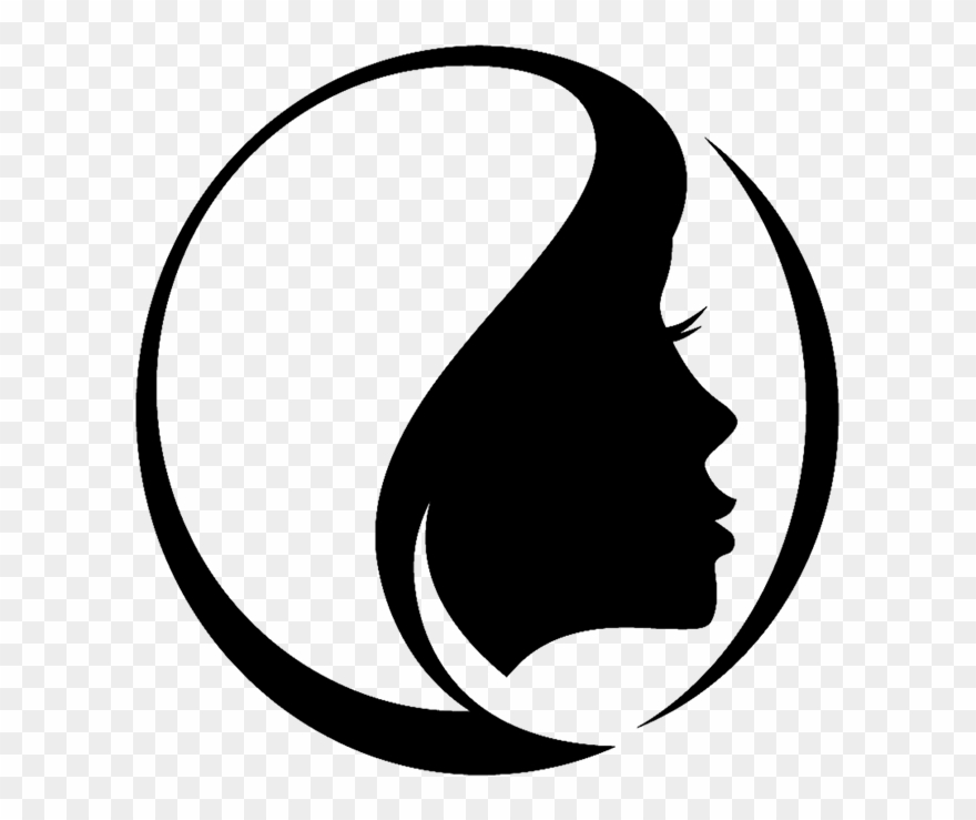 Esthetician icon health . Beauty clipart black and white