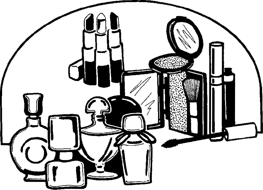 Clip art make up. Beauty clipart black and white