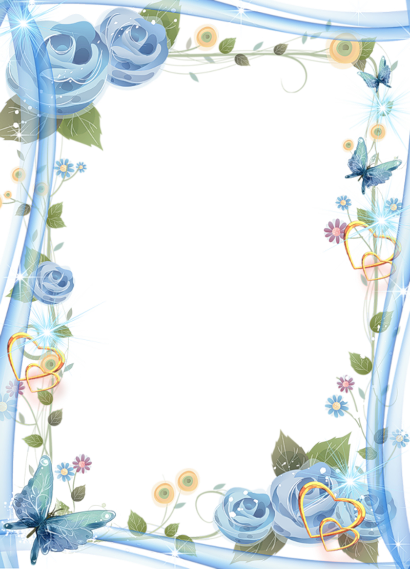 Beautiful blue transparent photo. See clipart nice