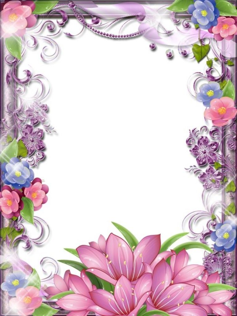 Beauty clipart border. Exelent beautiful flower borders