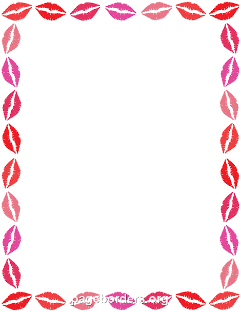 Pin by muse printables. Lipstick clipart border