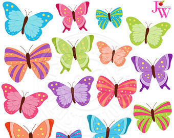 Beauty clipart butterfly. Clip art digital butterflies