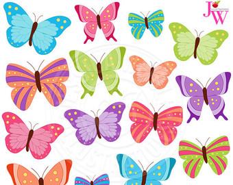 Beauty clipart butterfly. Clip art digital butterflies