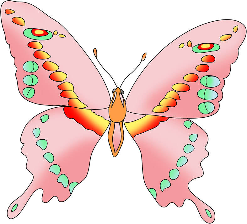 Beauty clipart butterfly. Beautiful images pink