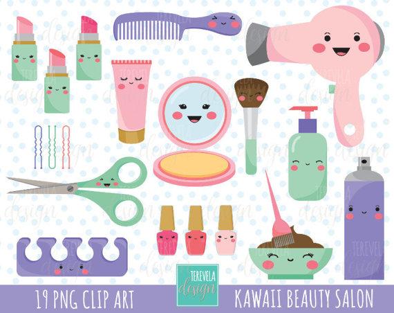 Beauty clipart cosmetologist.  sale kawaii salon