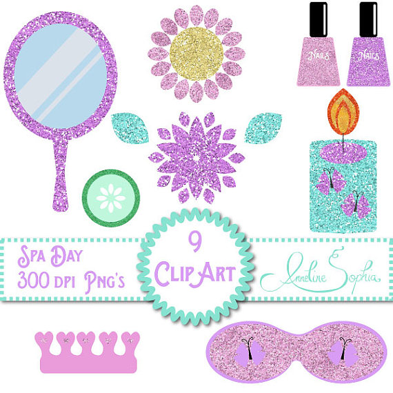 Items similar to spa. Beauty clipart day