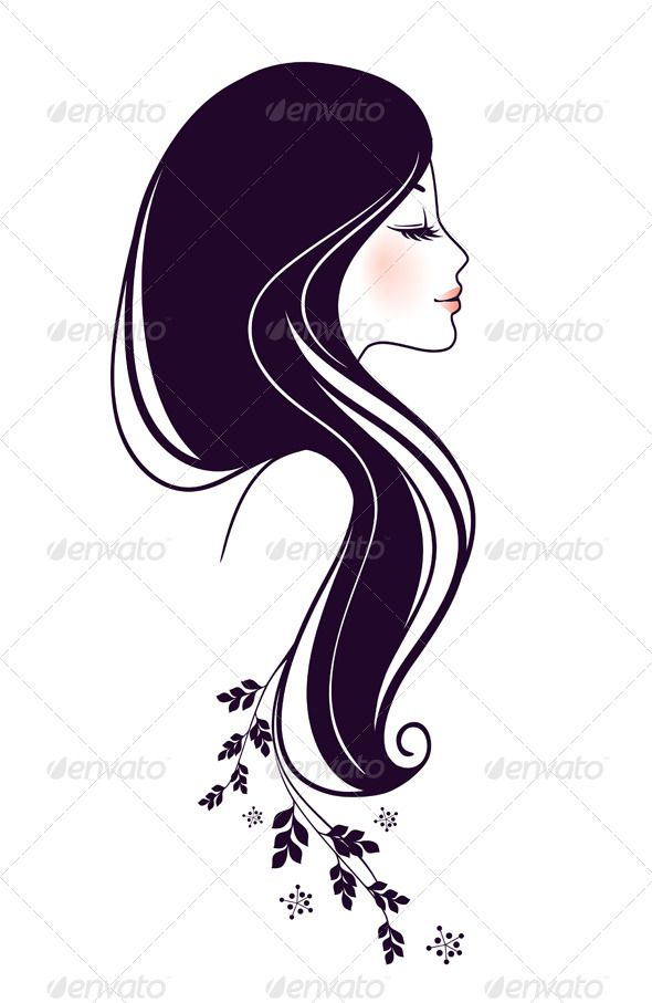 Silhouette at getdrawings com. Beauty clipart feminine