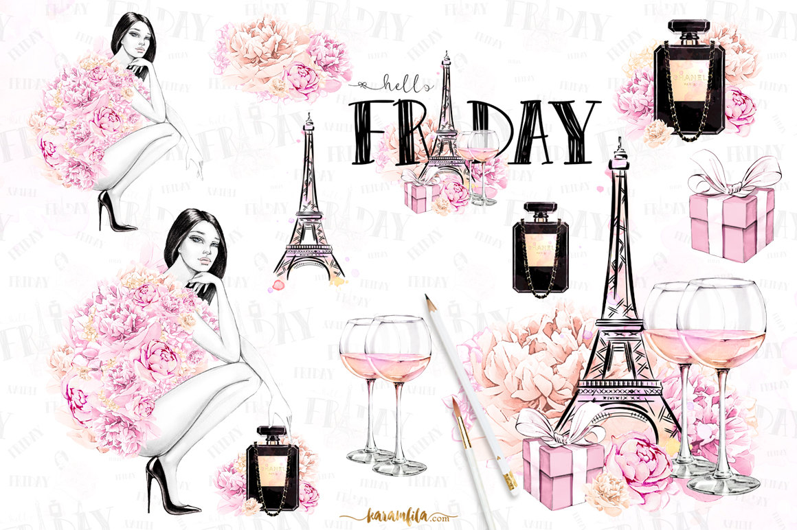 Beauty clipart feminine. Paris fashion clpart party