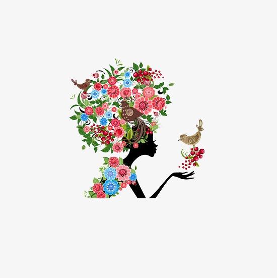 Beauty clipart flower. Beautiful silhouette d flowers