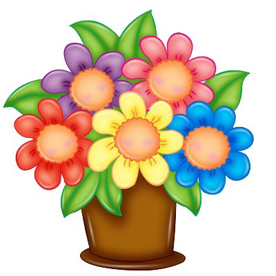 Bouquet clipart 4 flower.  best spring flowers