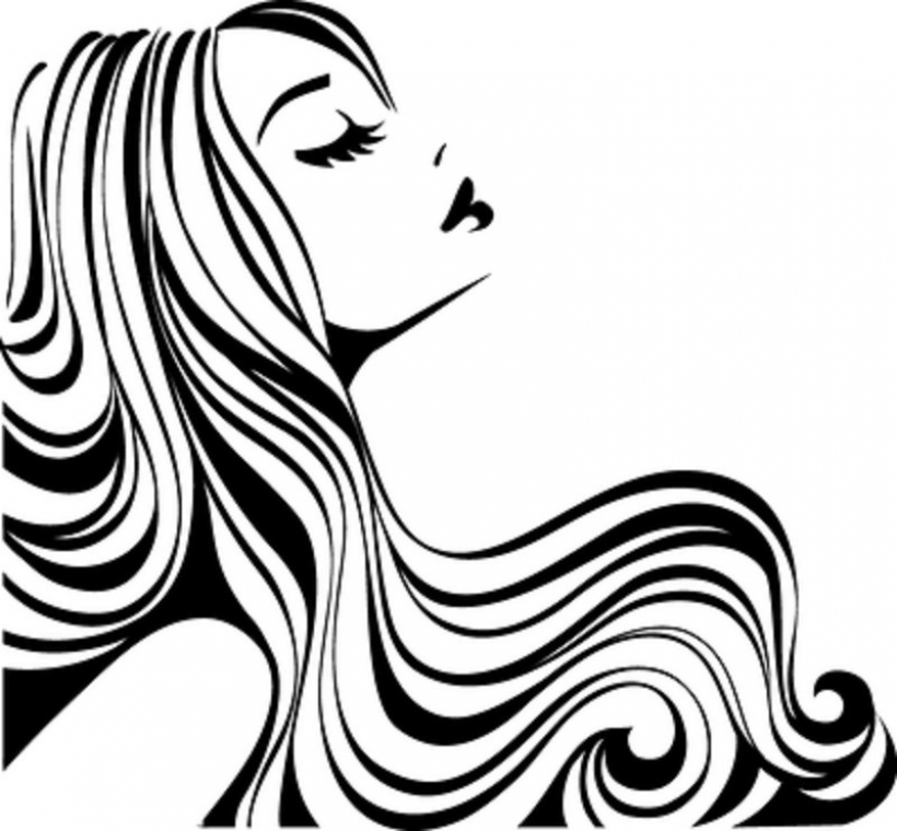 clip art clipartlook. Beauty clipart hair design