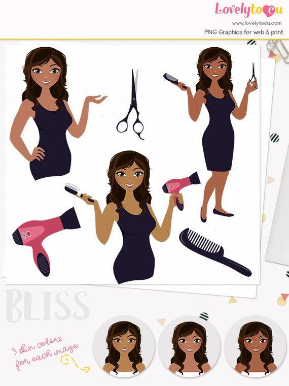 Beauty clipart hair stylist. Woman character design