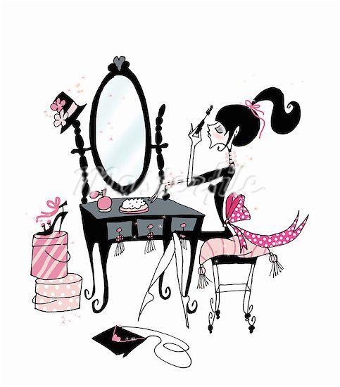 Beauty clipart illustration.  best makeup images