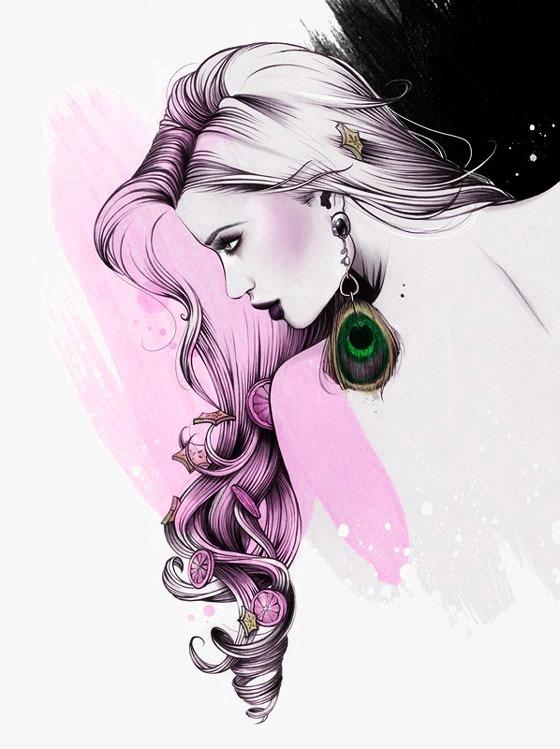 Beautiful girl cosmetics . Beauty clipart illustration