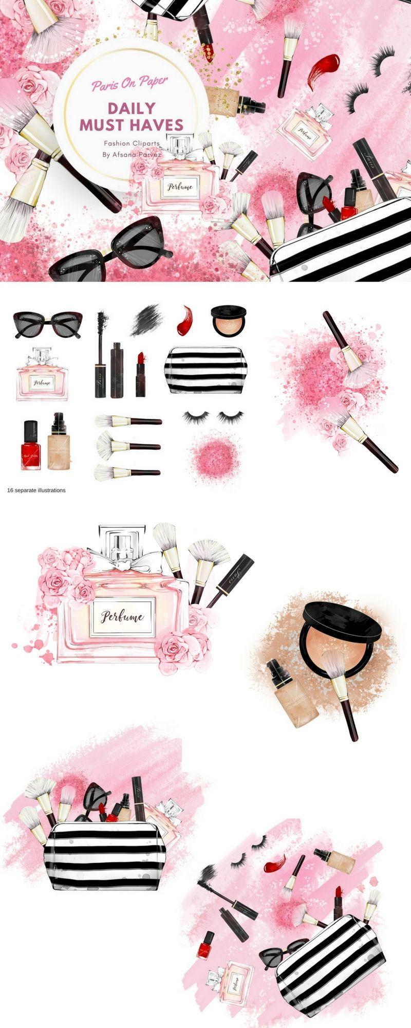 Makeup clipart fashion makeup. Cosmetics