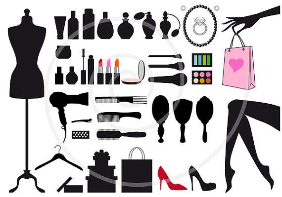 fashion digital clip. Beauty clipart item