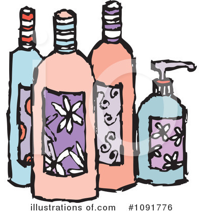 Products illustration by steve. Beauty clipart item