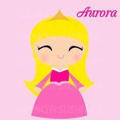 Beauty clipart kawaii. Instant download princess elsa