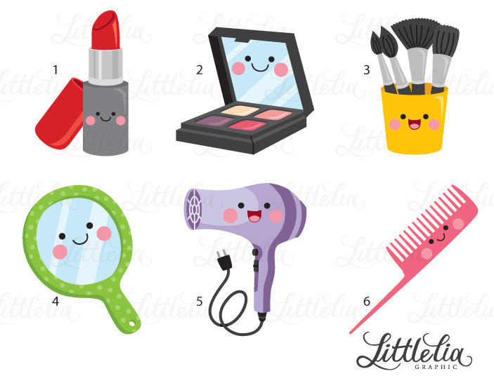 Beauty clipart kawaii. Makeup from littleliagraphic this