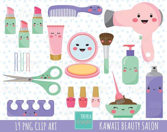 Cosmetology clipart.  sale kawaii salon