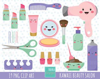 Salon . Beauty clipart kawaii