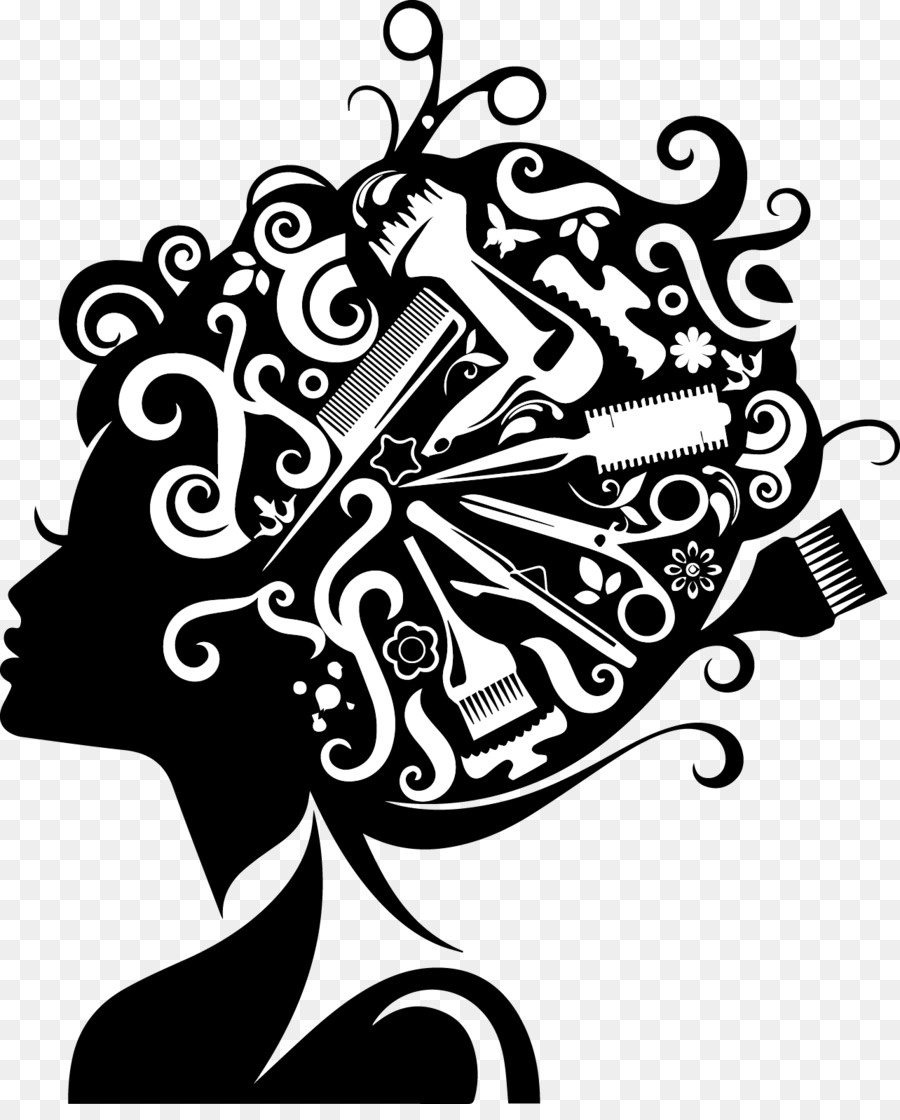 Beauty clipart line art. Comb hairdresser parlour hairstyle