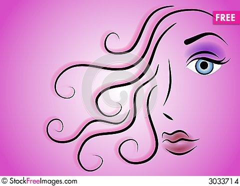 beauty clipart line art