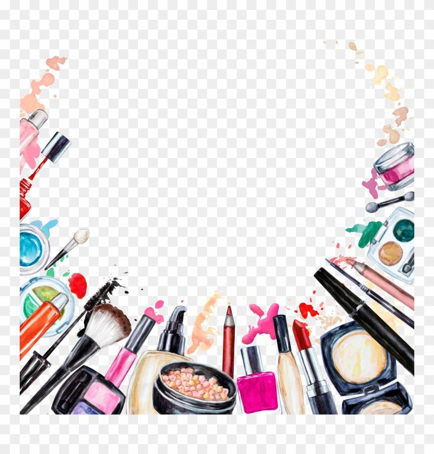 Beauty clipart makeup. Cosmetics brush pinclipart