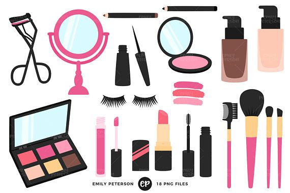 Beauty clipart makeup. Clip art girly commercial