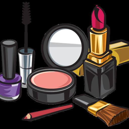 Cartoon cosmetics lipstick . Beauty clipart makeup